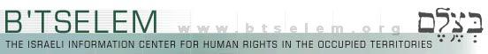 B'Tselem, aggiornamenti su violazioni israeliane.