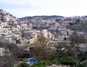 Al-Bustan, in Silwan. Photo: Noam Preiss, B'Tselem, 19 March   2009.