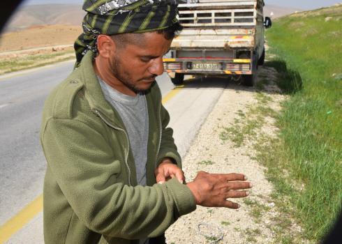 A-Nu'eimeh, Jordan Valley, 8 March 2020: Settler attacks shepherds