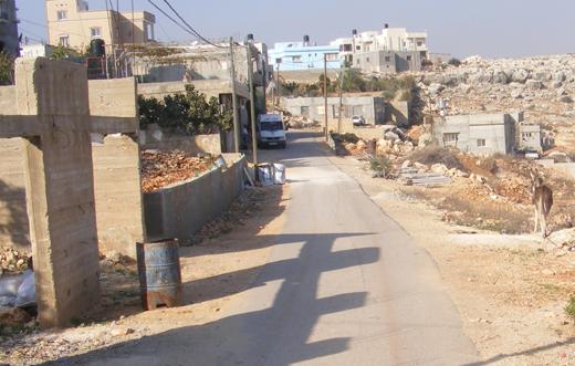 מקום האירוע, בכפר א-דיכ. צילום: ראאיד מוקדי, בצלם,