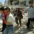 """<p>[1329] 17.5.0 אזרחים פלסטיניים בג'נין בורחים מבתיהם שנהרסו על ידי צה""""ל במהלך מבצע """"חומת מגן"""".</p><p>תצלום: גוראן טומסביץ', רויטרס</p>"""