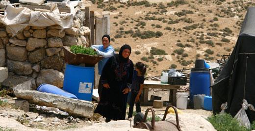 Palestinian women, Khirbet Zanutah, South Hebron Hills, 3 May 2012. Photo: Sharon Azran, B'Tselem.