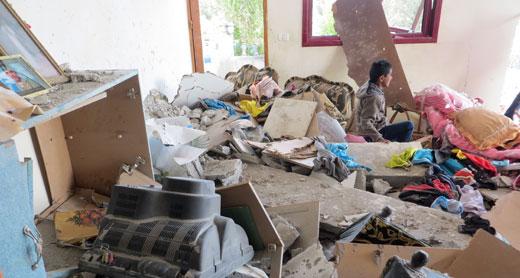 The Abu Sbeikhah family home today. Photo: Muhammad Sabah, B'Tselem.