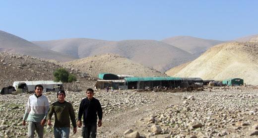 The Khirbet Khirbet 'Ein Karzaliyah community before this year's demolitions. Photo: 'Atef Abu a-Rub, B'Tselem, 12 Feb. 2014