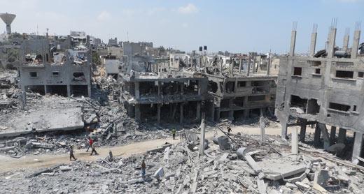 Ruins in Beit Hanoun, 5 Aug. 2014. Photo: Muhamad Sabah, B'Tselem.