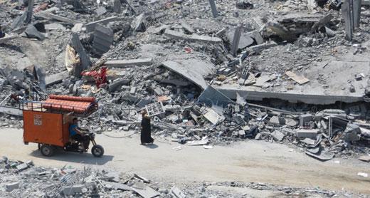 الدمار في بيت حانون، محمد صباح، بتسيلم، 5/8/2014