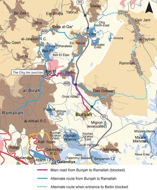 road linking Burqah and Ramallah. Click to enlarge