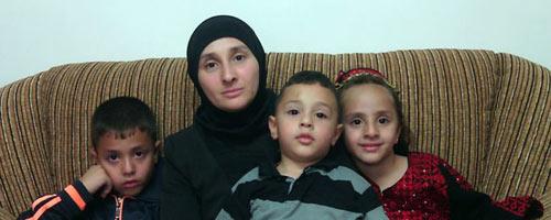 Nadia Abu al-Jamal and her children. Photo: courtesy of the family