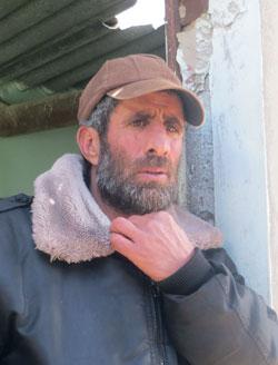 Salman Abu Khusah. Photo by Muhammad Sabah, B'Tselem, 29 March 2016.