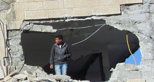 Ruins of Nassar family's home, Qabatiyah. Photo by Abdulkarim Sadi, B'Tselem, 4 April 2016