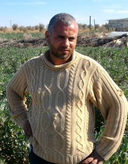 Omar Abu Zaher. Photo by Muhammad Sa'id, B'Tselem, 23 Jan. 2017