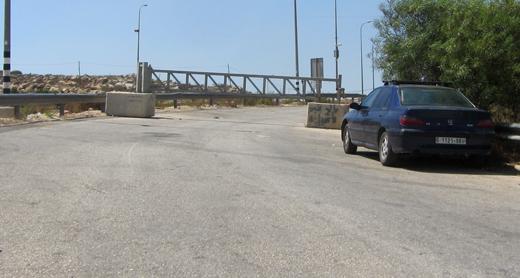 The gate at the main entrance to Kafr a-Dik, which the military closed. Photo: Abdulkarim Sadi, B'Tselem, 28 Sept. 2017