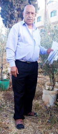 Ahmad Embaslet. Photo by 'Aref Daraghmeh, B'Tselem, 23 May 2017