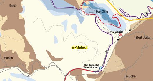 Map of the al-Makhrour area